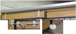 Sliding door hardware kit for horse stalls