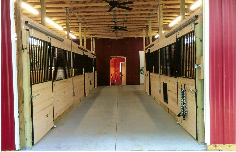 horse stalls Nickell Family Berlin Center Ohio