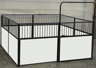 complete miniature horse stall